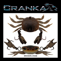Crab Treble Hook Model - 50mm - Light 3.9 Gram - BROWN CRAB