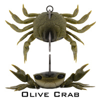 Crab Single Hook Model - 85mm - OLIVE CRAB